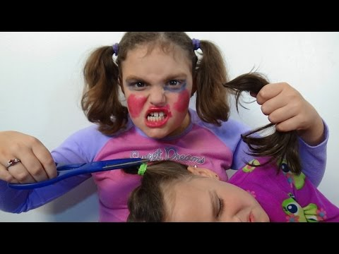 "Thumbnail: Bad Baby Victoria Cut Annabelle Hair ""Make Up Fail"" Toy Freaks"