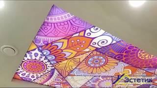 Натяжные потолки с фотопечатью. Обзор проделанной работы в сети ресторанов Navat