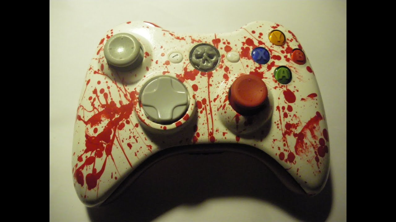 manette xbox 360 custom mod le splatter timelapse. Black Bedroom Furniture Sets. Home Design Ideas
