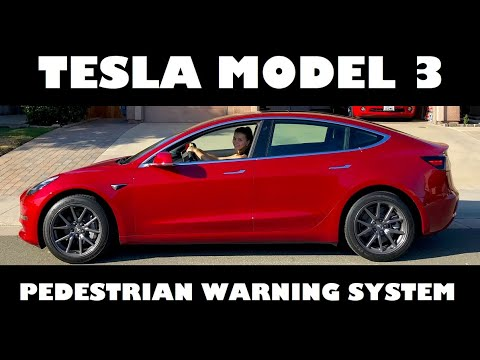 Tesla owner shares best look yet at Model 3's Pedestrian Warning System