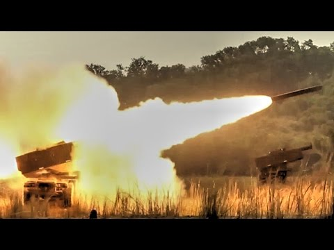 US Military HIMARS Rocket In Action