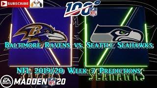 Baltimore Ravens vs. Seattle Seahawks | NFL 2019-20 Week 7 | Predictions Madden NFL 20
