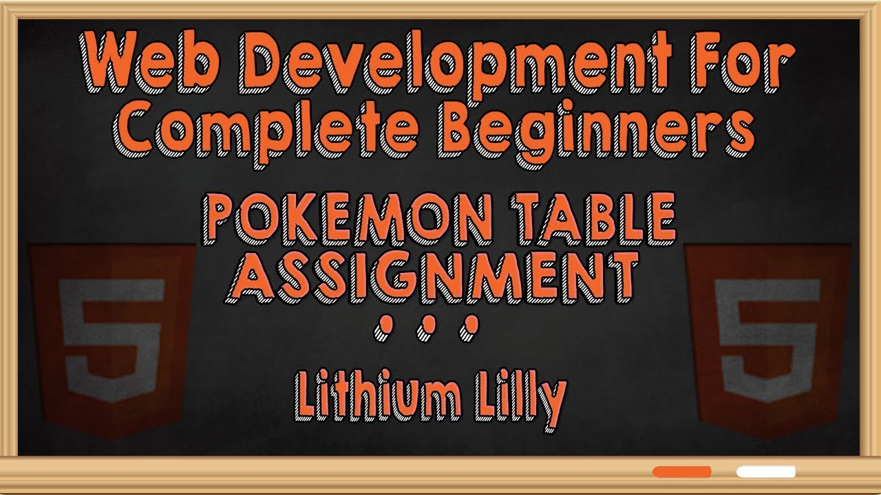 Web Development For Complete Beginners Pokemon Table Assignment