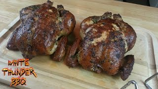 Smoked Herb Rubbed Chicken Recipe - How To Smoke A Whole Chicken With The Smokenator