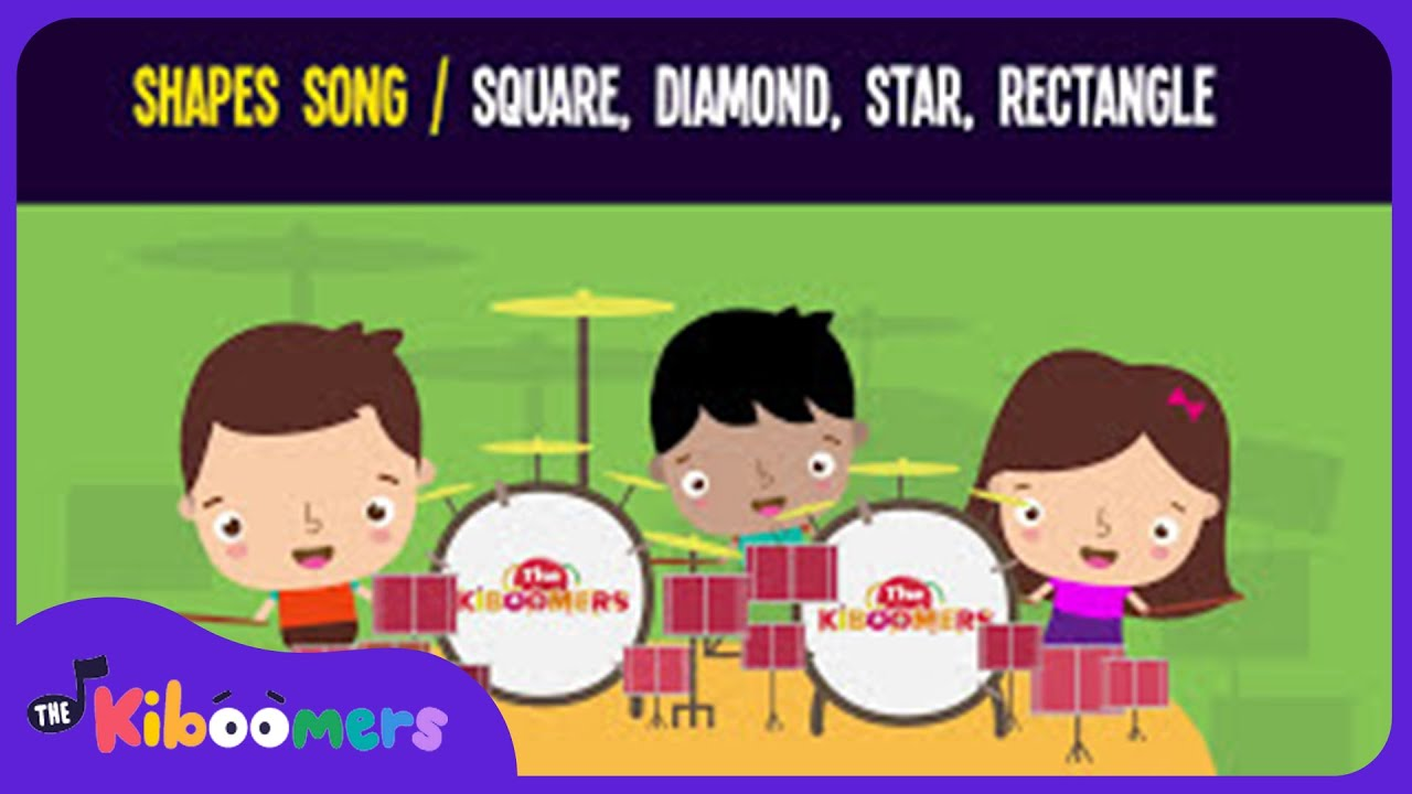Shapes Song for Kids | Square Diamond Star Rectangle | The Kiboomers ...