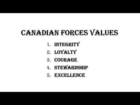 CANADIAN FORCES VISION, VALUES, ETHOS