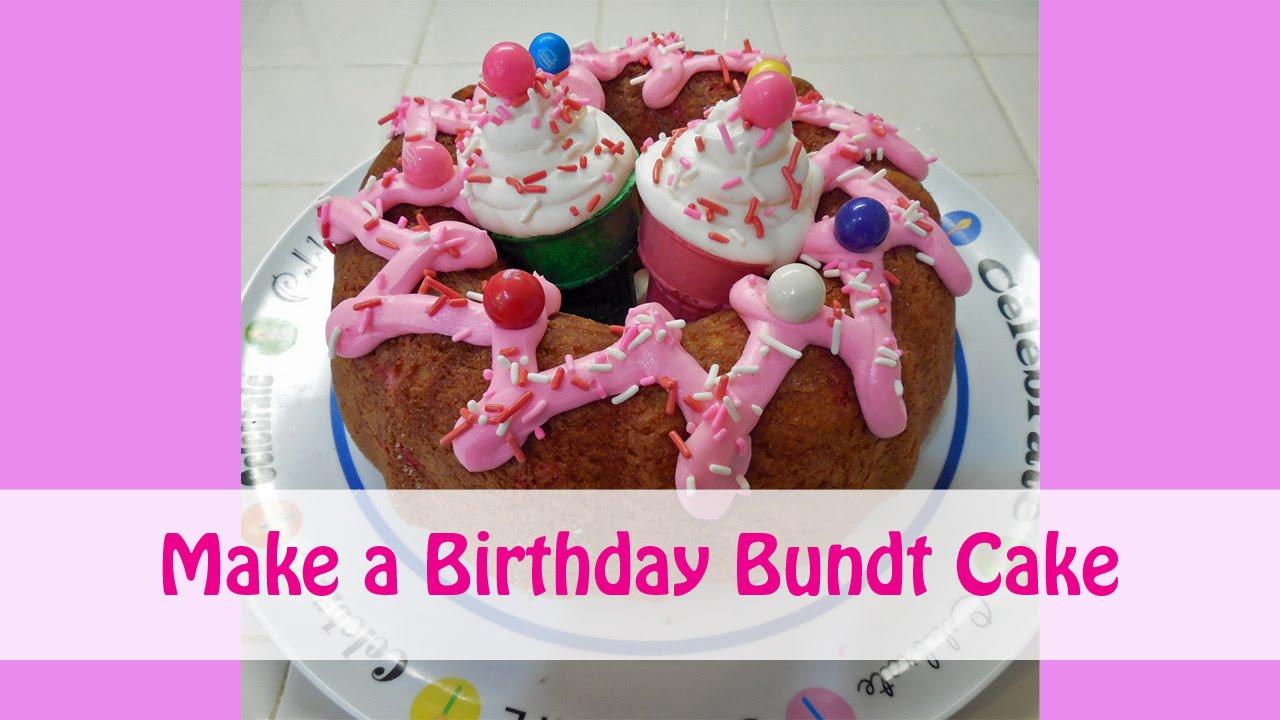 Birthday Ice Cream Bundt Cake YouTube