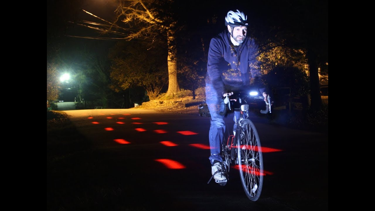 Cycling Bicycle Light Laser Projection Light Warning Light Bicycle Headlight 8i