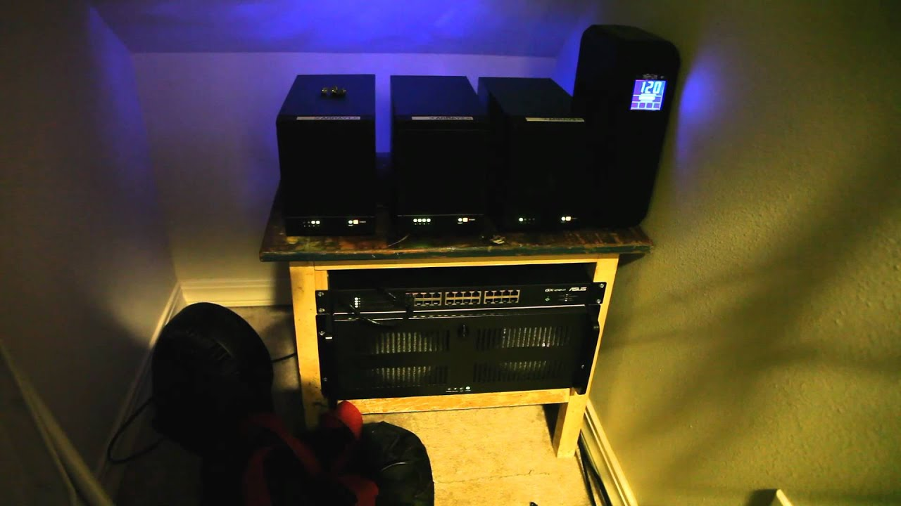 Man Cave Server Closet   14TB Storage, Router, Etc   YouTube