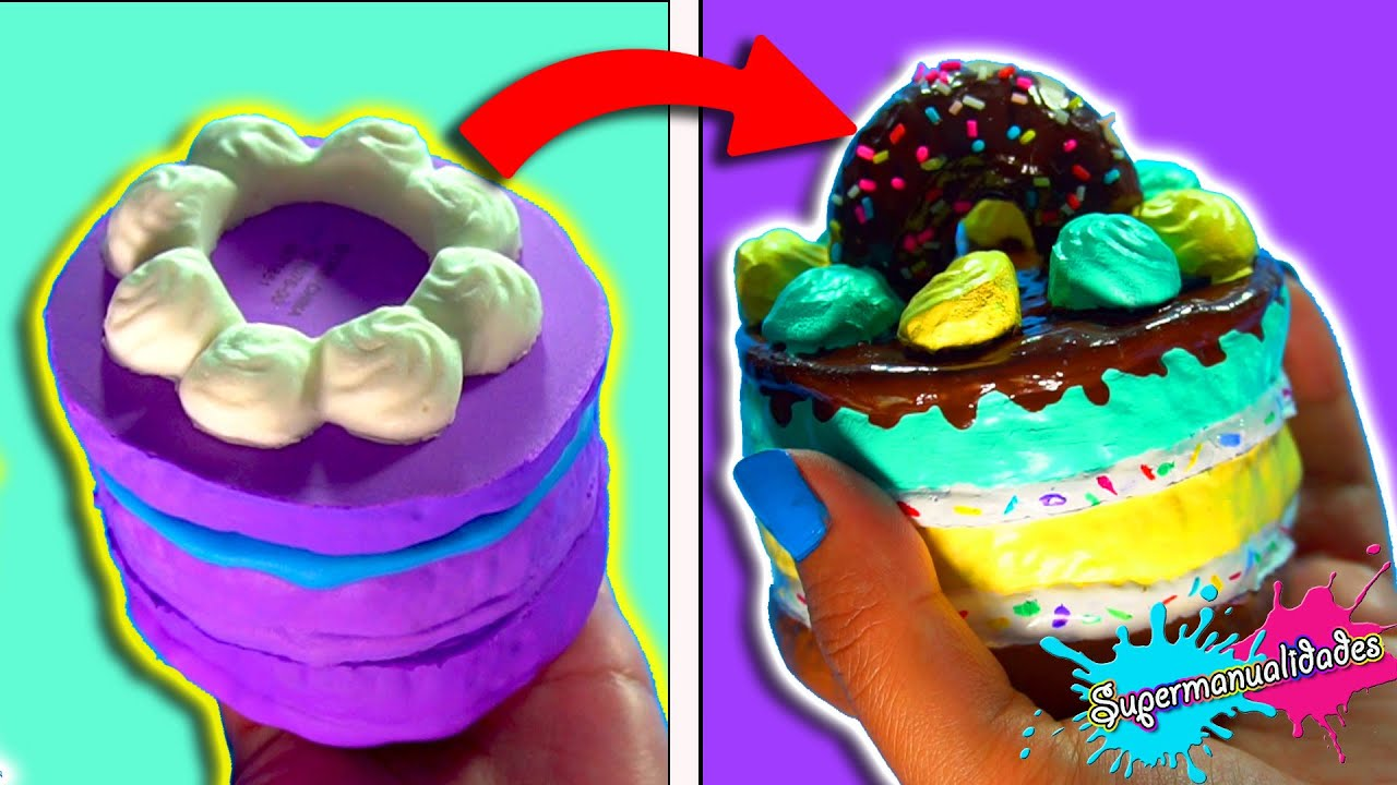 Arreglando y decorando Squishies de Slimi Cafe (Squishy makeover 8) - Supermanualidades