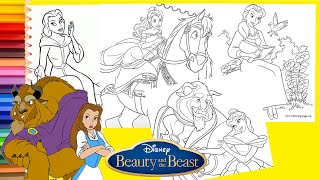 Disney Beauty and the Beast Princess Belle Coloring Pages for kids