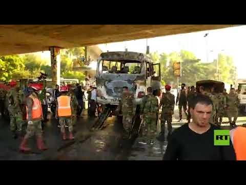 قتلى وجرحى جراء استهداف حافلة للجيش وسط العاصمة السورية دمشق  - نشر قبل 4 ساعة