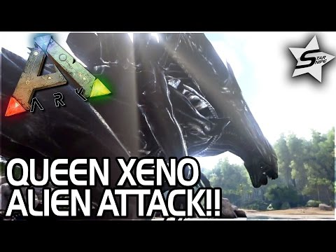 QUEEN XENOMORPH ALIEN ATTACK, FIRST TAMES! - ARK Survival Evolved Modded Gameplay #2 EXTINCTION CORE