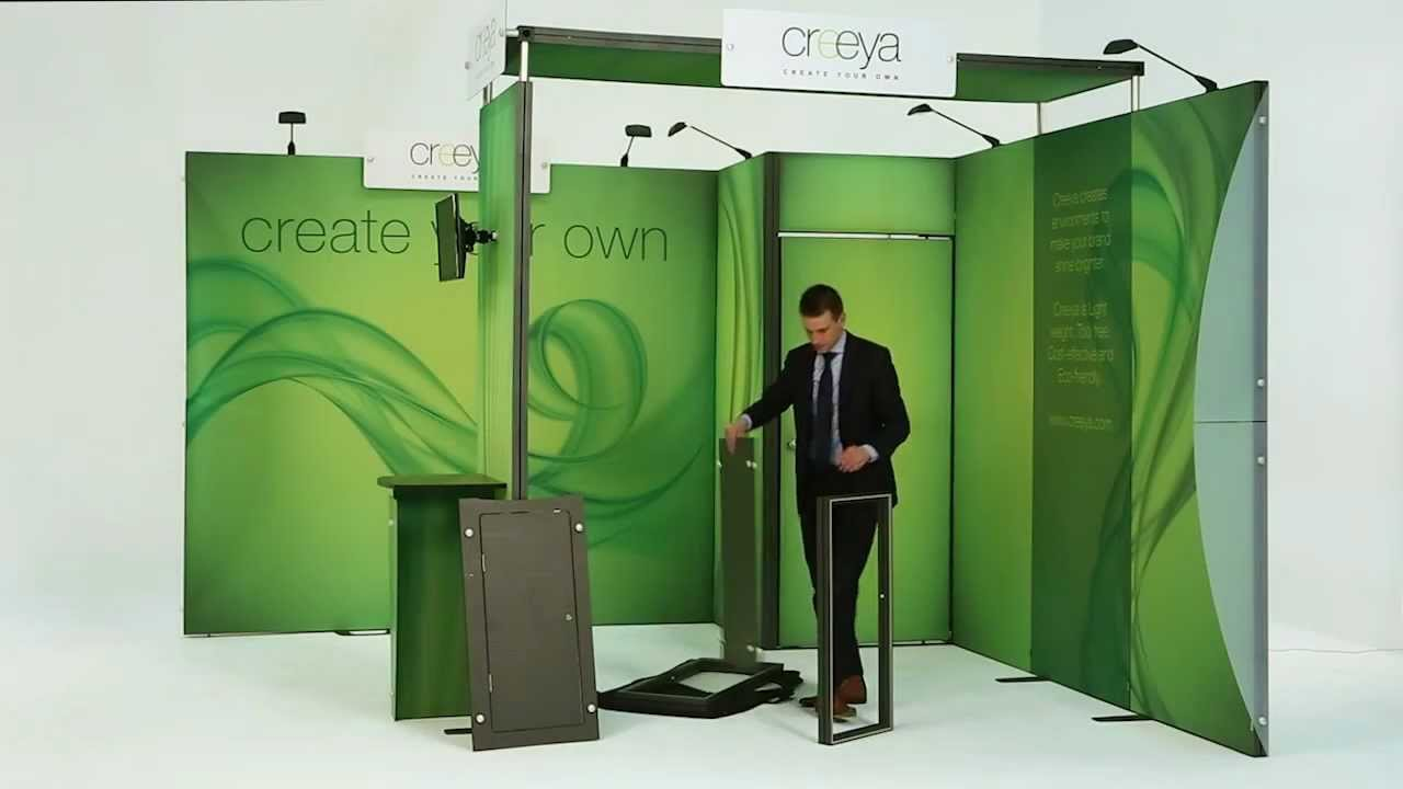 Exhibitor Booth Setup : Creeya trade show exhibits booths displays