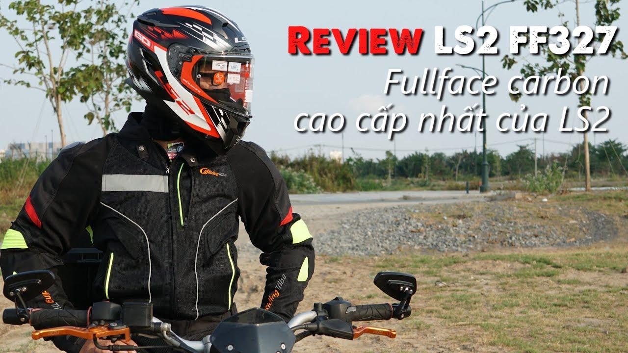 Nón Fullface Carbon cao cấp nhất của LS2 – Review LS2 FF327 | MinC Motovlog