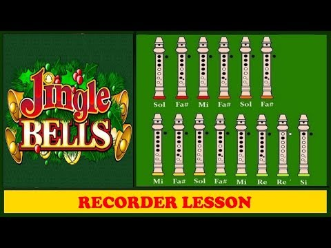 Jingle Bells 【Recorder Notes Tutorial】