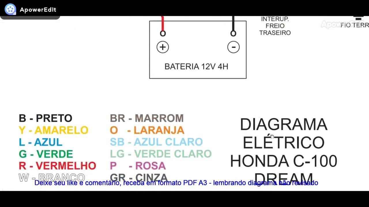 Diagrama El U00e9trico Honda C100 Dream - Eletric Diagram