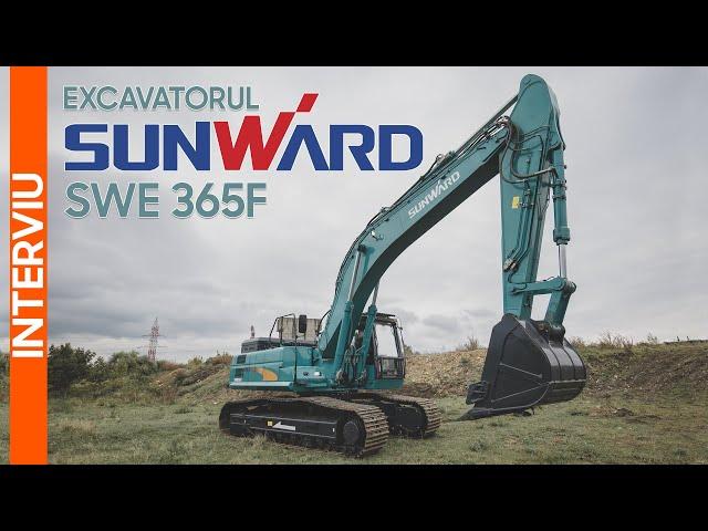 Excavatorul Sunward SWE 365F, un utilaj fiabil și robust | Interviu Utilaje TV
