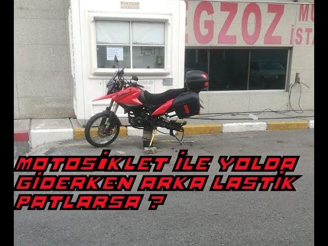 Motosiklette arka lastik patlayınca ne olur - lastik nasıl değiştirilir