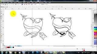 Curso de CorelDRAW X6 aula 11,ferramenta de desenho,bézier