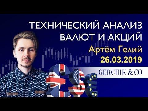 ≡ Технический анализ валют и акций от Артёма Гелий на 26.03.2019.