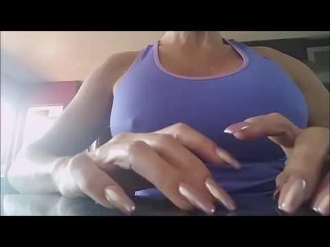 FAST TAPPING ~ long metallic fingernails. -XOYJ  ASMR LOVER