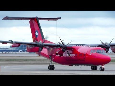 British Antarctic Survey De Havilland Canada Dash 7 Arrival at Calgary Airport