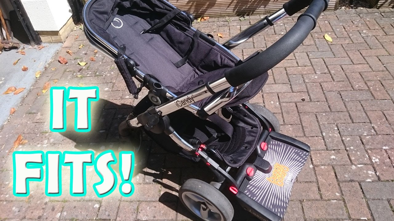 How To Fit A Lascal BUGGYBOARD Mini Max Onto An ICandy PEACH 2 Pushchair Stroller Pram