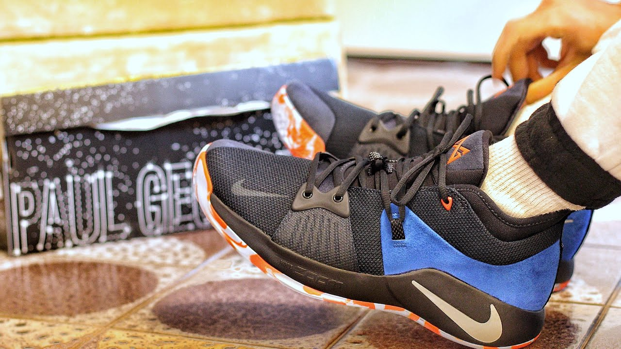 4931b45af9d6 NIKE ZOOM PAUL GEORGE PG2 OKC Home Colorway Early Sneaker Unboxing and On-foot  Review