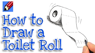 Learn how to draw a toilet roll Real Easy for kids and beginners