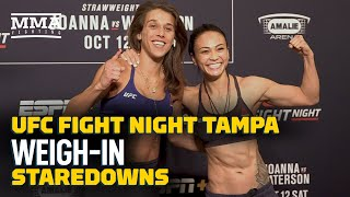 UFC Tampa Weigh-In Staredowns - MMA Fighting