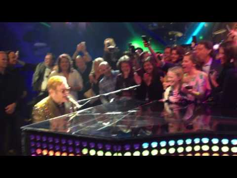 On stage with Elton John (2/11/17) at Cesar's Palace