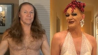 Drag Queen Makeup Transformation - Rodd becomes Patti