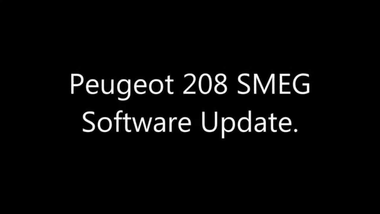Peugeot 208 SMEG Radio Software Update