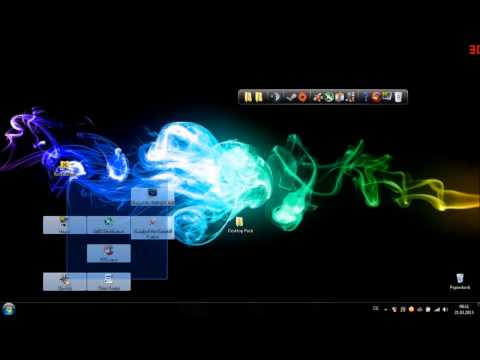 Desktop Verschönern (Windows XP/Vista/7/8) (Rocketdock, Rainmeter, Wallpaper) [Deutsch] [HD]