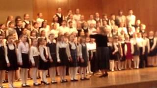 Выступление младшего хора  музыкальной школы № 1 им. Прокофьева  г.Москвы