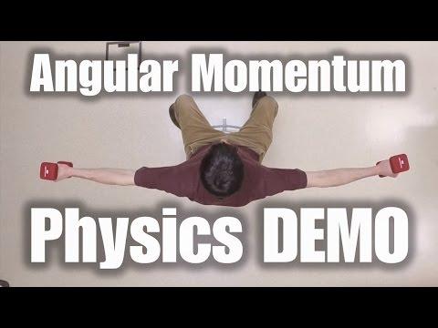 Physics Demo: Angular Momentum Conservation