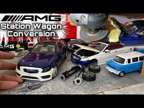 W205 C180 AMG Conversion Station Wagon Project / 1:18 Diecast Mercedes-Benz Modifiye