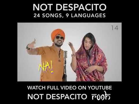 Not despacito, 24 songs, 9 languages
