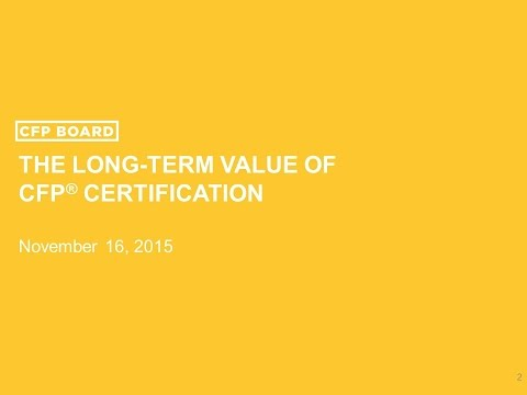 The Long-Term Value of CFP® Certification