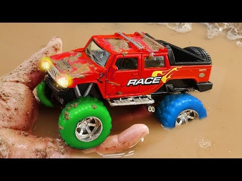 Fine Toys Construction Vehicles Looking for underground car | Toys for kids