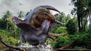 Финальная Битва Тираннозавр Vs Спинозавр сражение Гигантов.