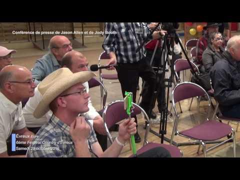 Conférence de press, Jason Allen, Jody Booth, 6e Festival Country d'Évreux (Eure) samedi 29 oct 2016