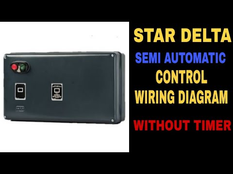 semi automatic star delta motor starter wiring diagram without timer star  delta starter