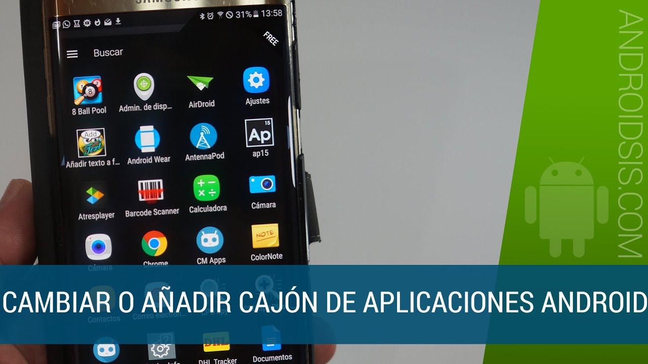 Cómo añadir cajón de aplicaciones a tu terminal Android - YouTube