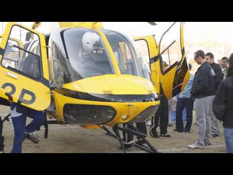 UNTHSC emergency medicine demonstration: Medevac helicopter fly-in