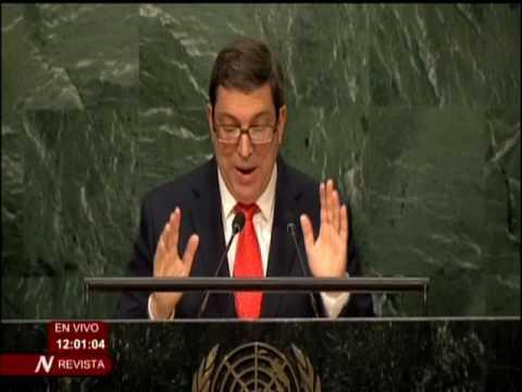 Bruno Rodríguez Parrilla en la ONU: Pienso en Fidel, en Raúl, en nuestro pueblo