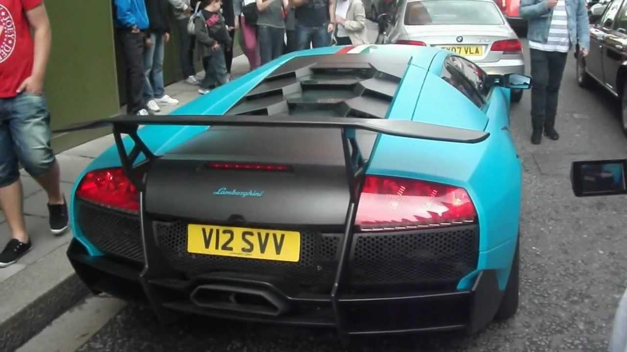 Turquoise Lamborghini Murcielago Lp670 4 Sv Start Up Huge Rev