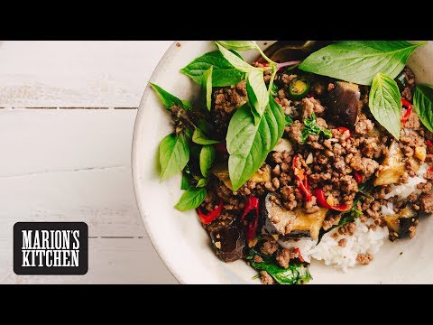 Basil, Beef And Eggplant Stir-fry - Marion's Kitchen