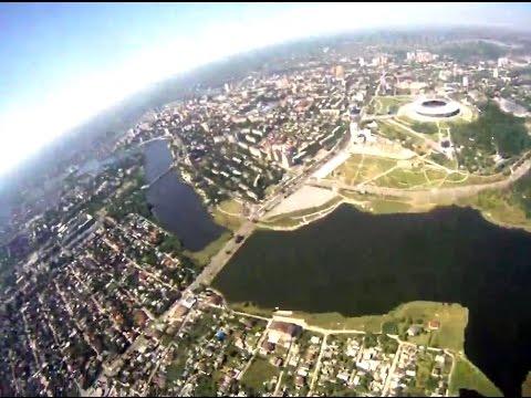 Донецк из-под купола парашюта 02/08/15 | Donetsk from paratrooper view